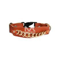 قلاده گردنی سگ مدل چرمی زنجیردار